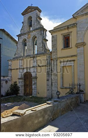 Medieval Stone Church in the Lefkada town