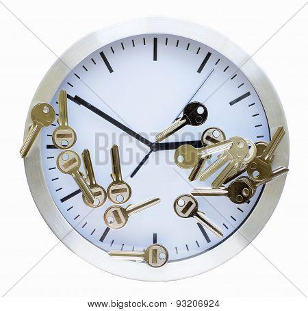 Blank Keys For Cutting On A Clock