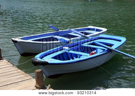 Boats On Dalyan Coastline