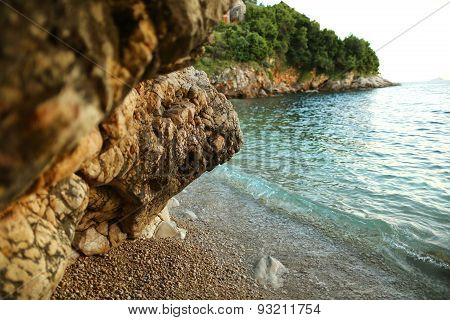 Beautiful beach in Dubrovnik, Croatia