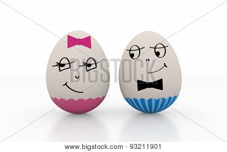 Two Lovers Easter Eggs