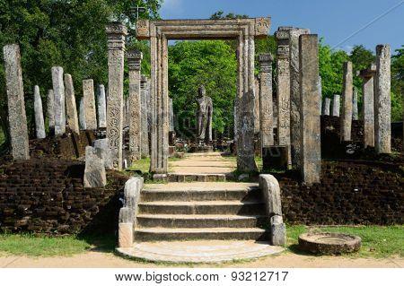Polonnaruwa Ruin, Atadage Ruins, Sri Lanka