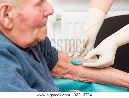 Elderly Man On Anticoagulant Treatment
