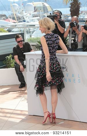 Actress Naomi Watts attend the The Sea of Trees photocall during the 68th annual Cannes Film Festival on May 16, 2015 in Cannes, France.