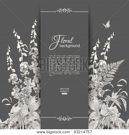 Vector Floral Romantic Card