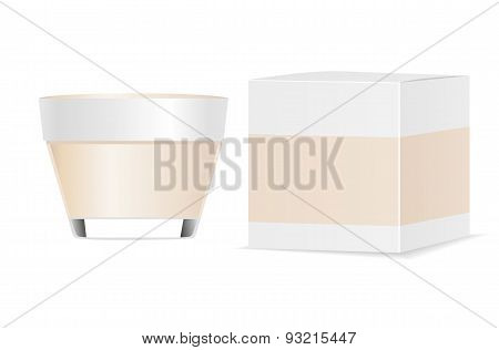 Cosmetic tube and packaging. Place for your text.
