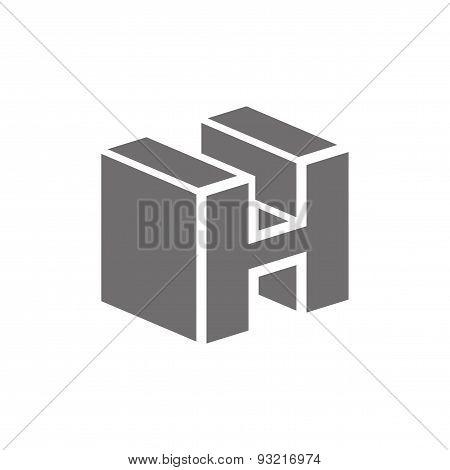 Letter H Logo Concept Icon. Vector