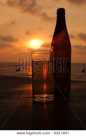 Sunset beer.