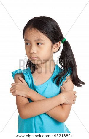 Little Asian Girl Sulk, In Bad Mood