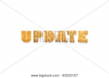 The Letter Word Update. Alphabet  Cookie Biscuits