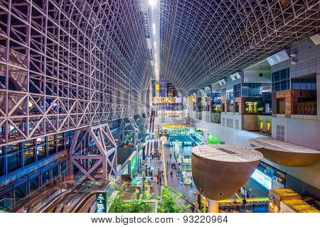 KYOTO - NOVEMBER 21, 2012: Kyoto Station interior. It is Japan's second-largest station building.