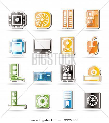 Computer performance and equipment icons