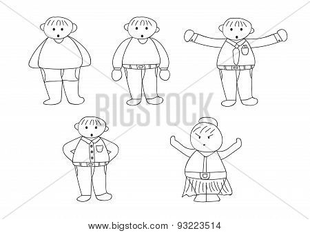Cartoon Character Doodle1