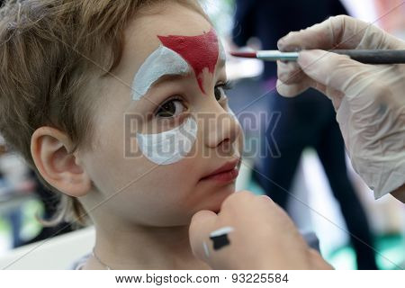 Kid With Painting Face