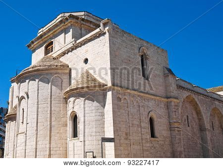 Basilica Church of St. Sepolcro. Barletta. Puglia. Italy.
