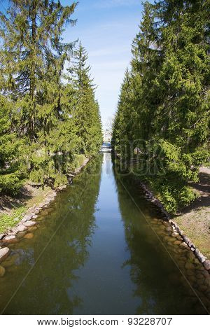 River in the Catherine Park, Pushkin