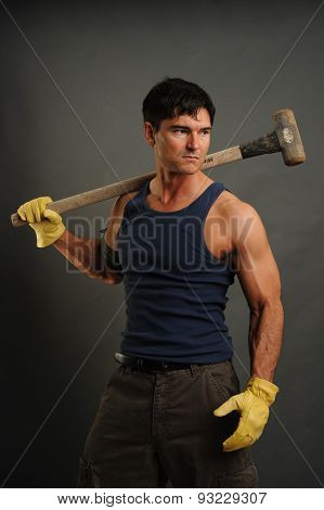 sexy construction man