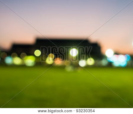City light bokeh background in twilight time.