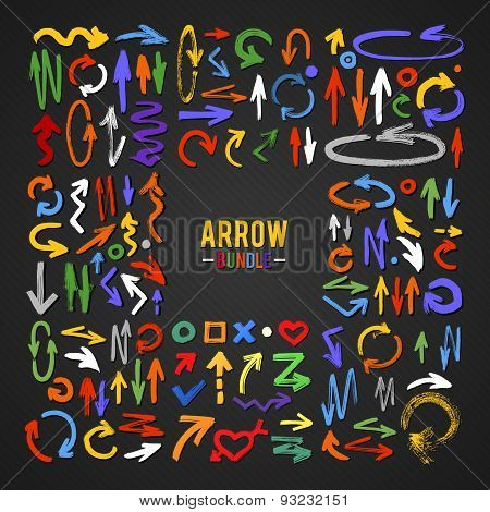 Vector Brush Stroke Arrow Collection