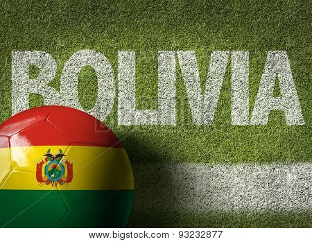 Soccer field with the text: Bolivia