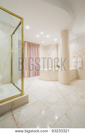 Exclusive Spacious Bathroom Interior