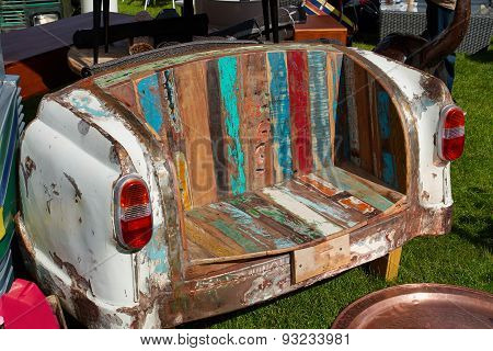 Creative Sofa Made From A Vintage Car