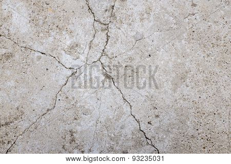 Cracks In Concrete Surface
