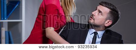 Female Chief Harassing His Worker
