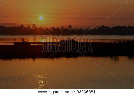 Dreamy View Of The Sundawn On The Nile River