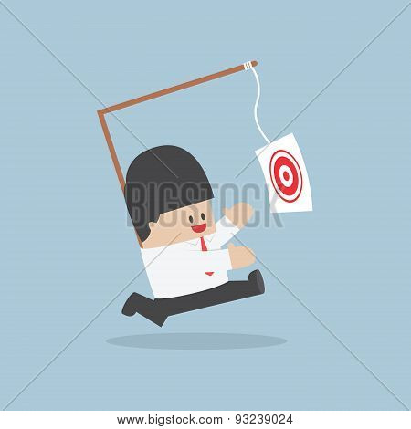 Businessman Chasing His Target