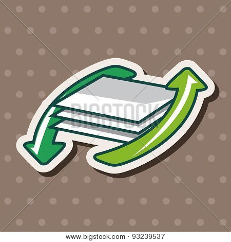 Environmental Protection Concept Theme Elements; More Use Of Recycled Paper
