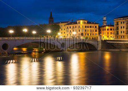 Ponte Risorgimento and Adige, Verona, Italy