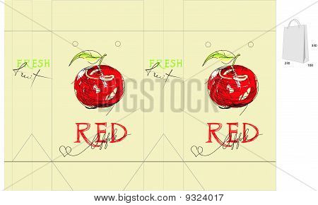 Bag With Red Apple