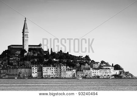Town Of Rovinj Bw