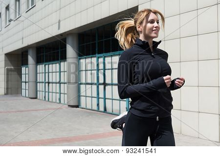 Satisfied Young Runner