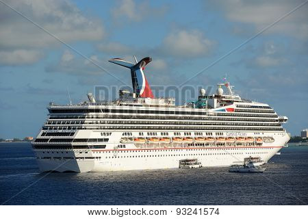 Cruise Ship Carnival Victory in Cayman Islands
