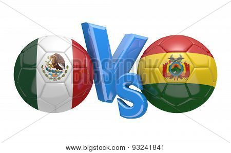 Football competition, national teams Mexico vs Bolivia
