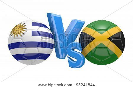 Football competition, national teams Uruguay vs Jamaica