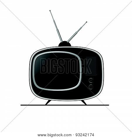 Tv Ancient Black Vector