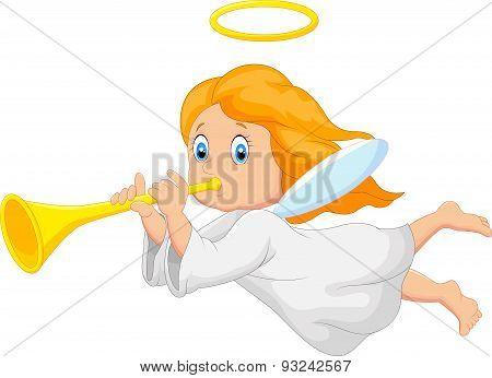 Cartoon cute angel