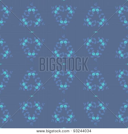 Seamless abstract pattern, blue berry circles