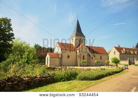 Rural Church In Burgundy, France