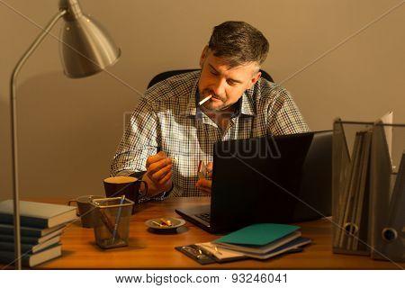 Middle Aged Man's Break