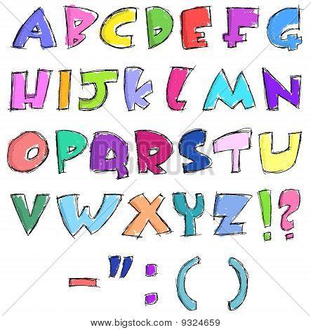 Coloridas Letras incompletos