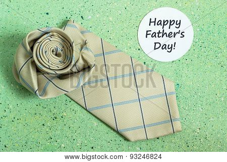 The Idea Of Design For Father's Day: Tie And Sticker