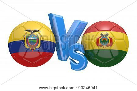 Football competition, national teams Ecuador vs Bolivia