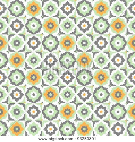 Seamless pattern with floral ornate.