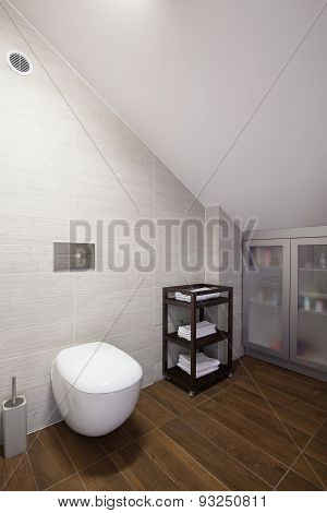 Bathroom With Inclined Wall