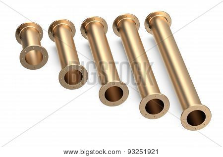 Set Of Cooper Pipes