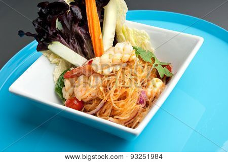 Thai Salad with Shrimp and Seafood